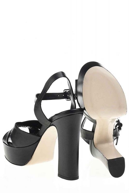 Double Platform Leather Shoes (Black)