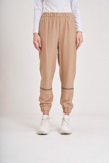 Aerobin Taş Şeritli Pantolon (Camel) - Thumbnail