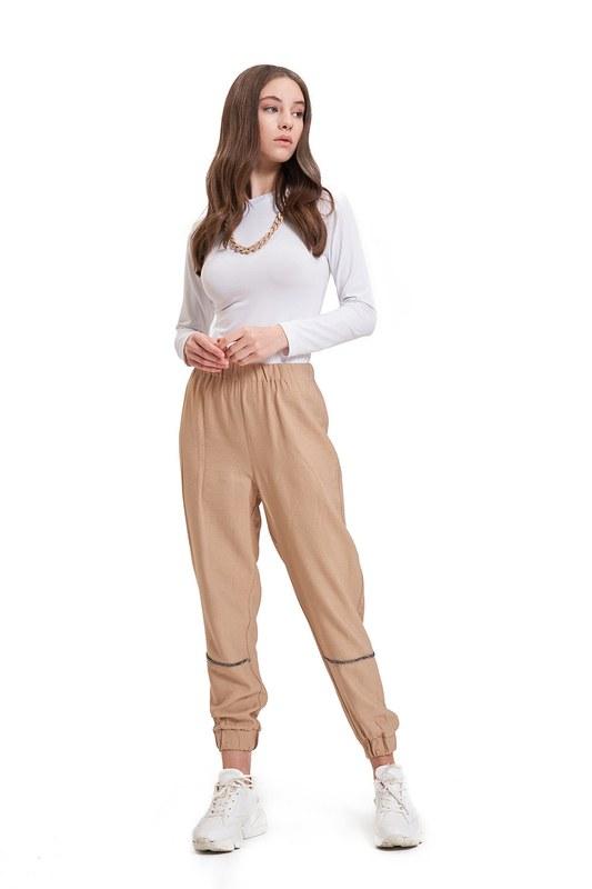 Aerobin Taş Şeritli Pantolon (Camel)