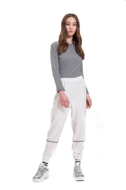 Aerobin Taş Şeritli Pantolon (Ekru) - Thumbnail