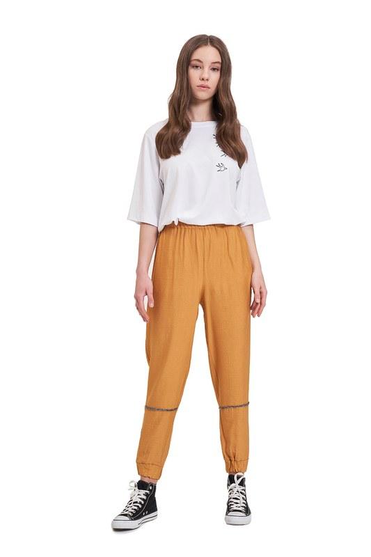 Aerobin Taş Şeritli Pantolon (Safran)