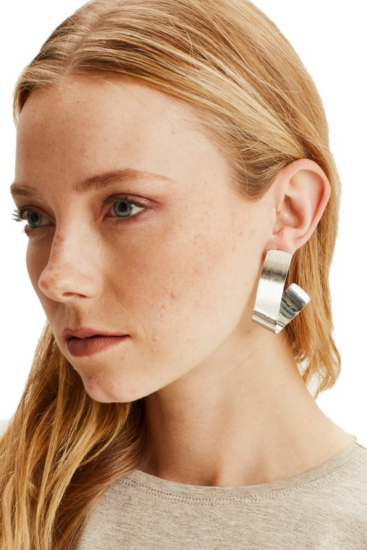 Fluid Geometric Earrings (Silver)