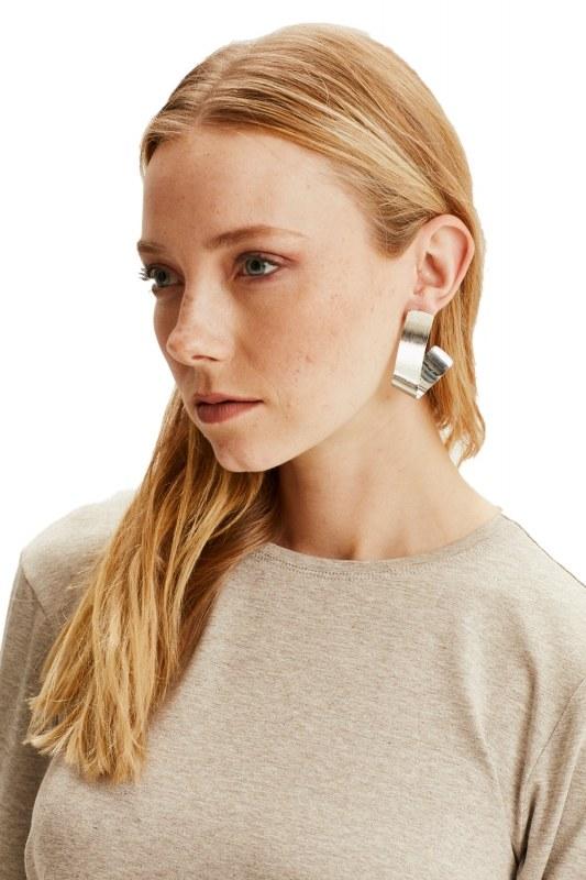 Fluid Geometric Earrings (Silver)