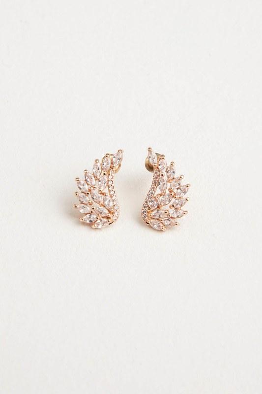 Angel Winged Earrings (Yellow)
