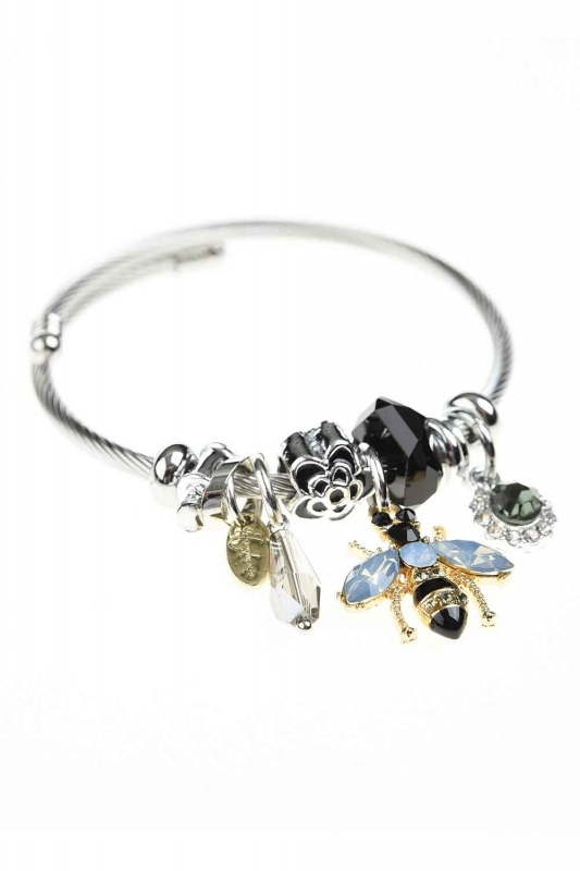 Bee Detailed Bracelet (Black)