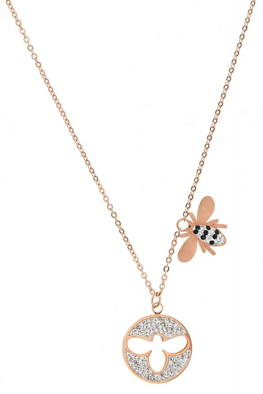 Bee Detailed Steel Necklace (St)
