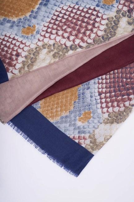 شال بنمط جلد الثعبان (أزرق) - Thumbnail