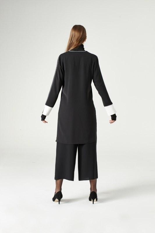 Asymmetric Blouse (Black)