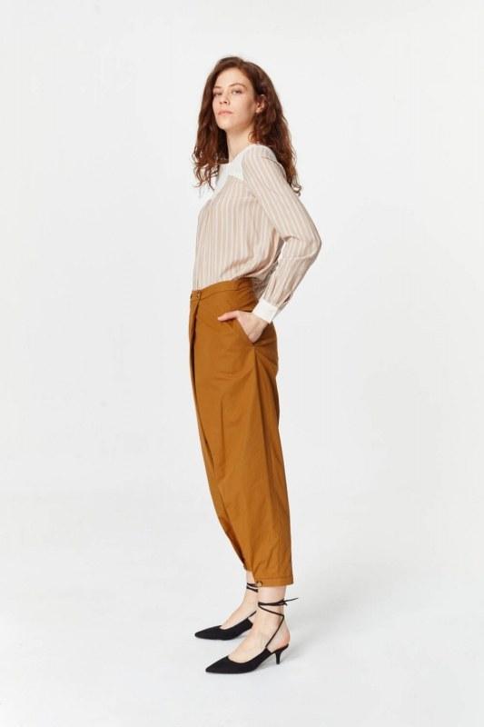 Asymmetric Detailed Trousers (Mustard)