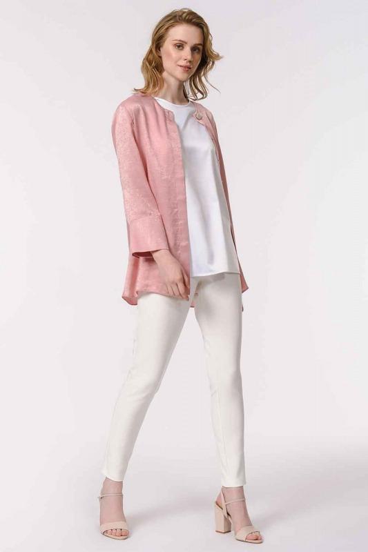 Askılı Saten Kolsuz Bluz (Beyaz)