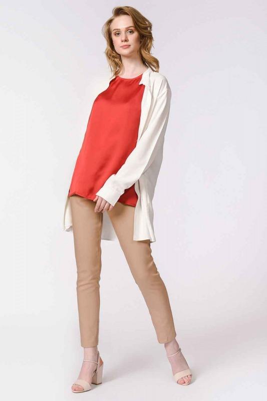 Askılı Saten Kolsuz Bluz (Kırmızı)