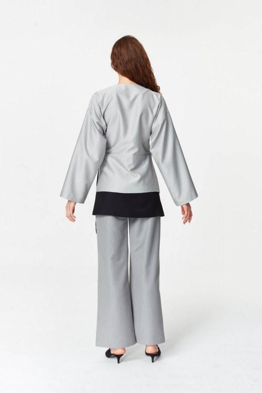 Asymmetrical Detailed Jacket (Grey)