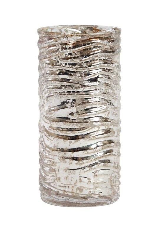 Auger Detailed Decorative Glass Candle Holder