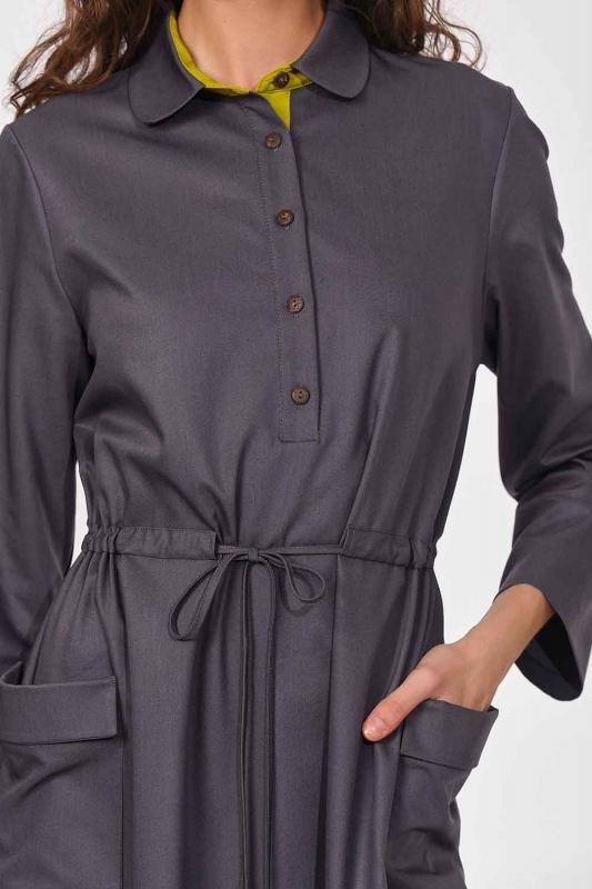 Bag Pocket Long Dress (Grey)