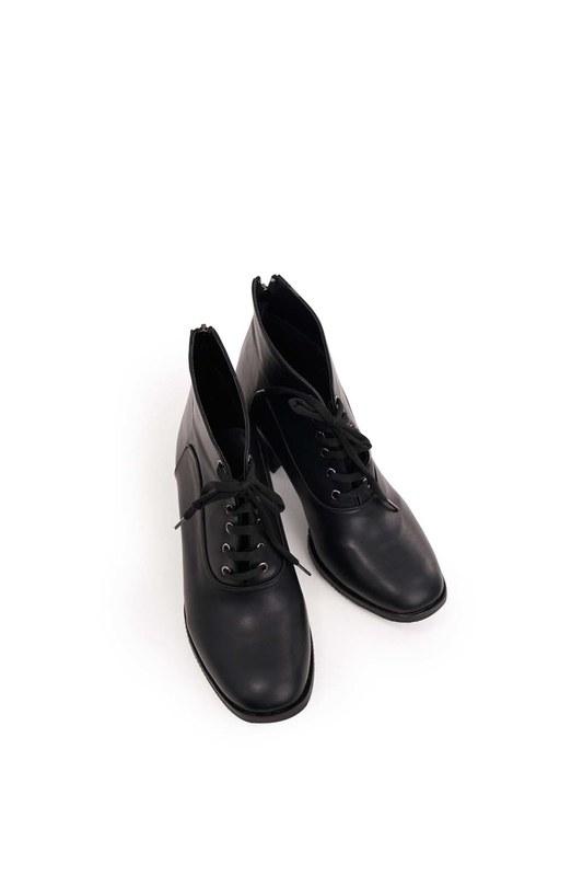 أحذية الدانتيل متابعة (أسود)