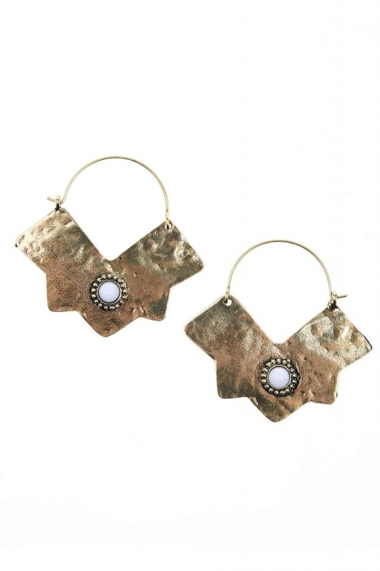 Copper-Looking Hoops Earring (St)