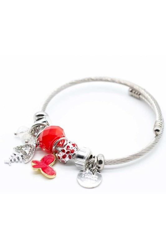 Fish Detailed Bracelet (Red)