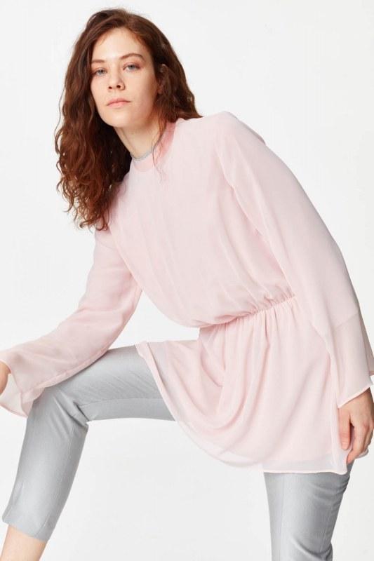 Turtleneck Blouse (Light Pink)