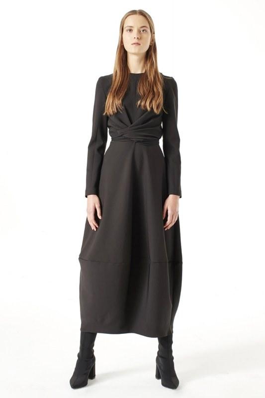 Balon Etekli Elbise (Siyah)