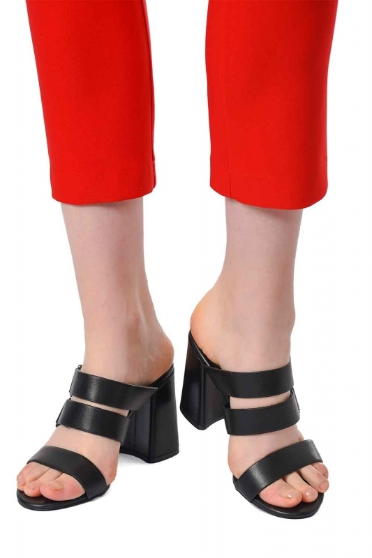 Banded Leather Shoes (Black)
