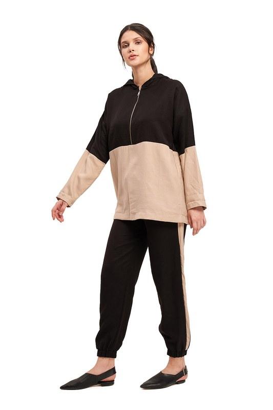 Basic Bağcıklı Salaş Pantolon (Bej)