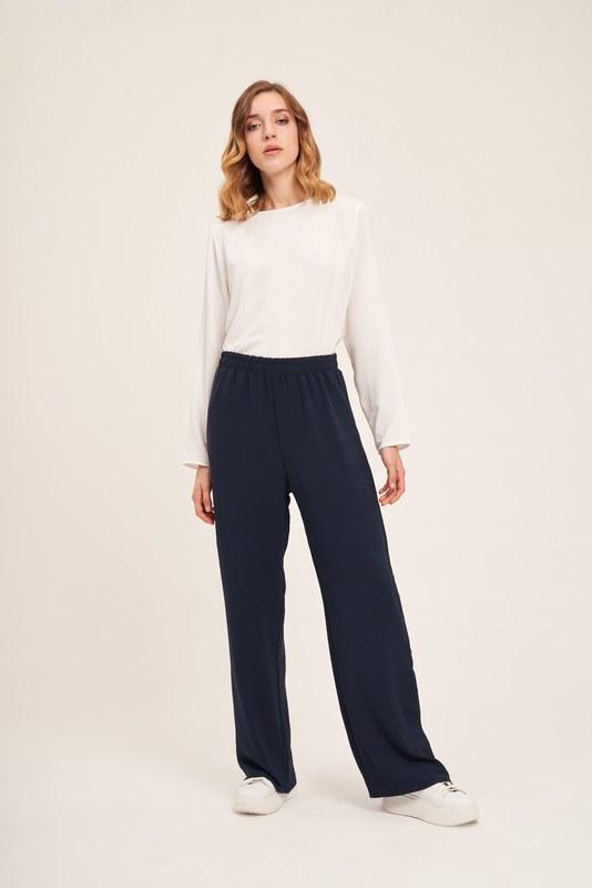 Basic Beli Lastikli Pantolon (Lacivert)