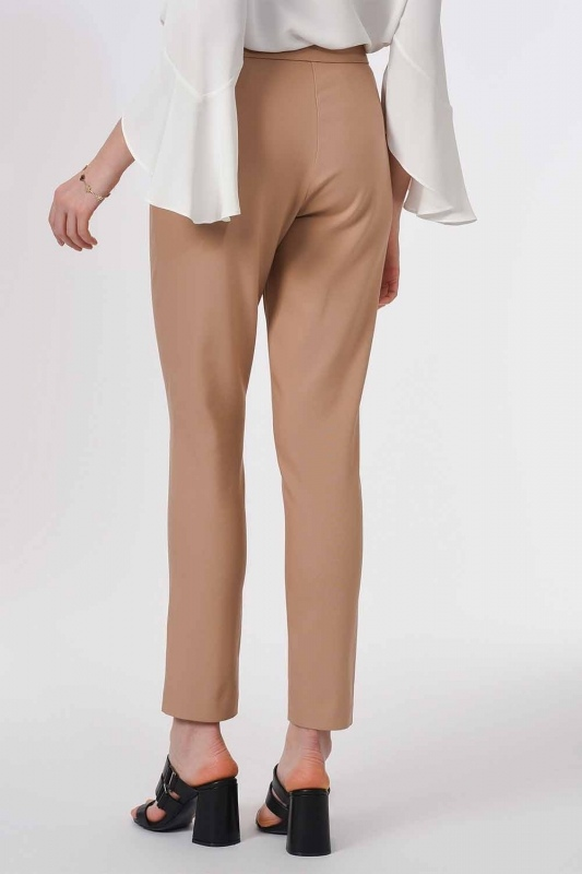 Basic Narrow Trousers (Beige)