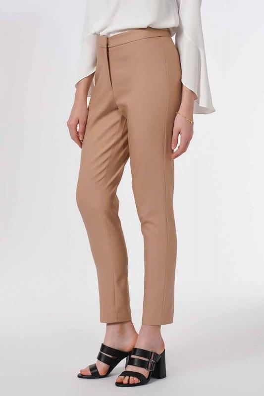 Basic Dar Paça Pantolon (Bej)
