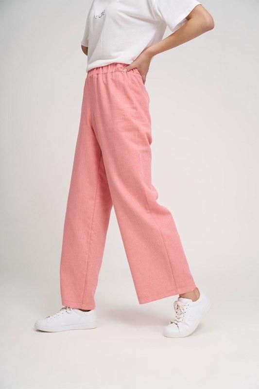 Basic Lastikli Pantolon (Gül Kurusu)