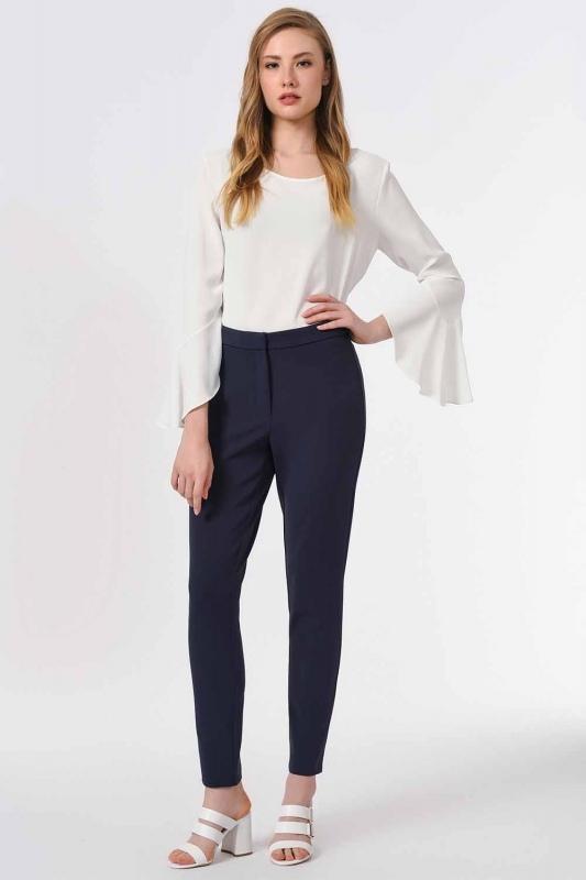 Basic Narrow Trousers (Navy Blue)