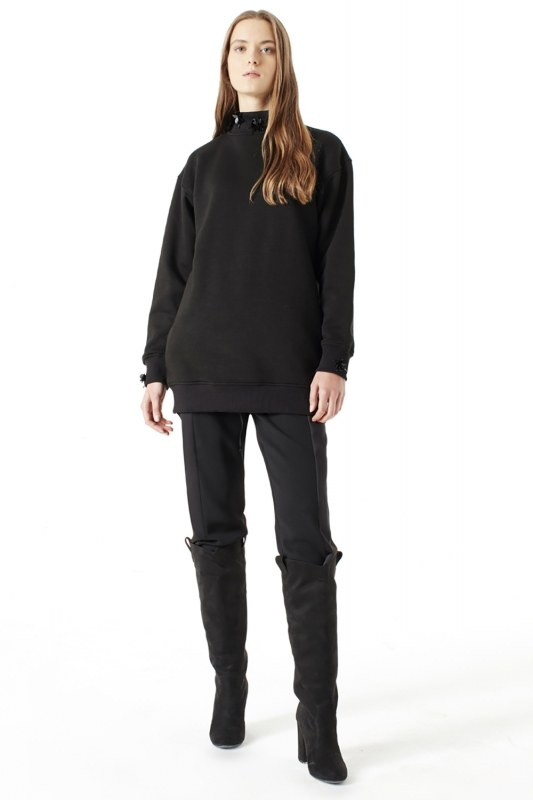 Sequin Detailed Sweatshirt (Black)