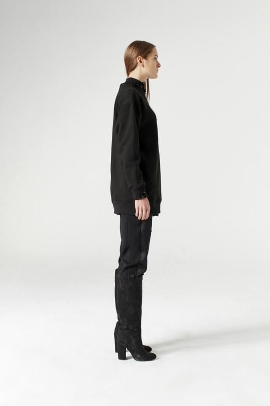 Payet Detaylı Sweatshirt (Siyah)
