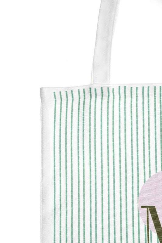 Baskılı Bez Çanta (Yeşil Şeritli)