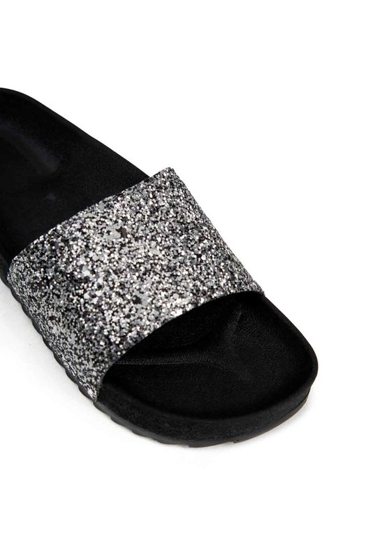 Soft Sole Slippers (Platinum Sequin)