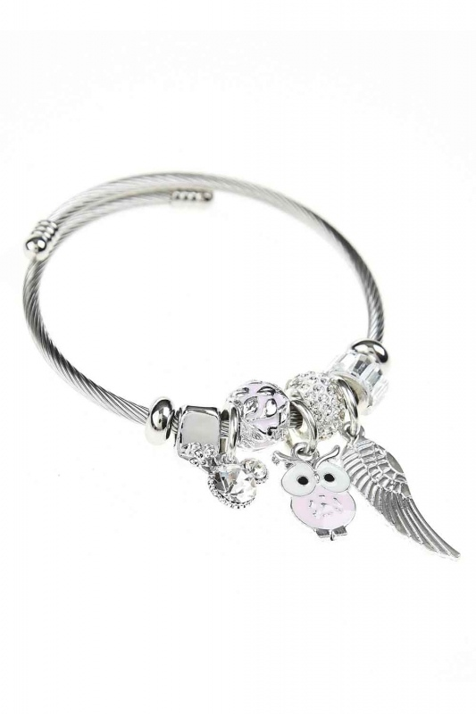 Owl Shaped Bracelet (Pink)