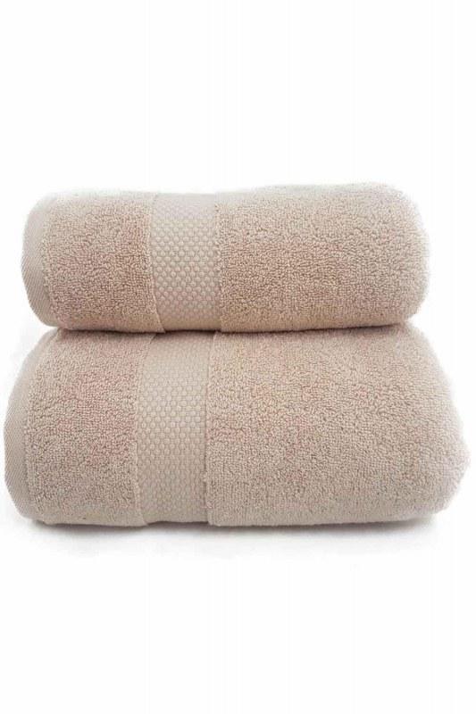منشفة حمام القطن (85X150) (بيج)