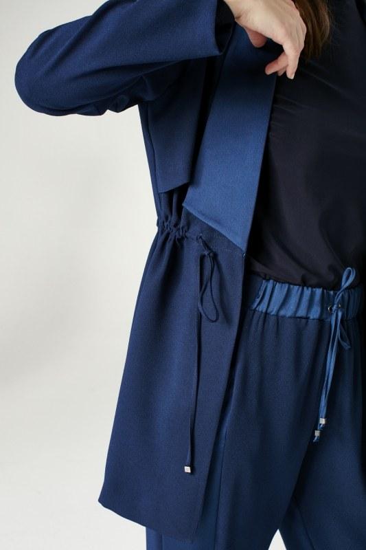 Waist Lace-Up Jacket (Indigo)
