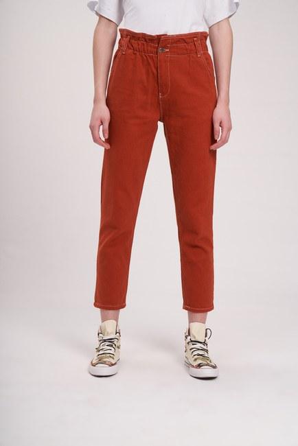 Beli Fırfırlı Pantolon (Kiremit) - Thumbnail