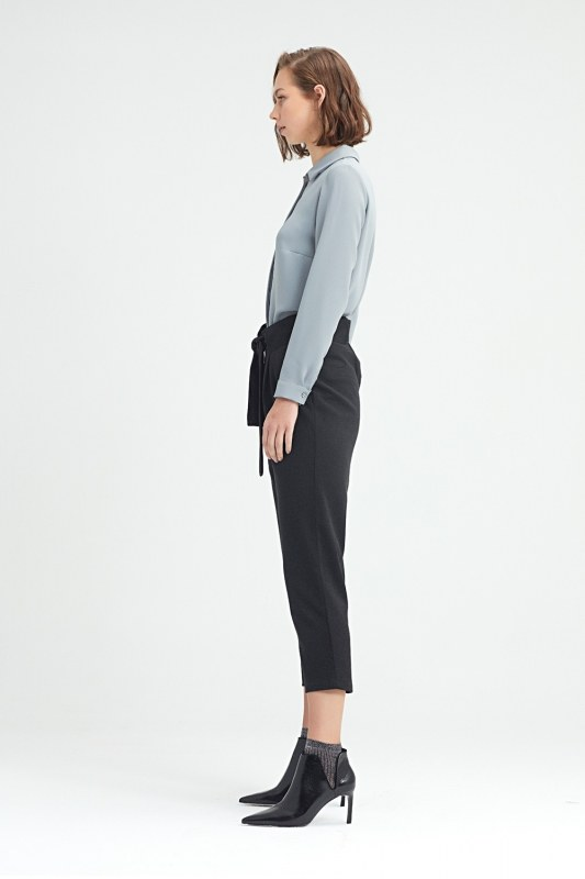 Waistbelted Trousers (Black)