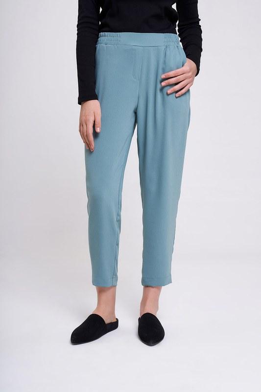 Beli Lastikli Dar Paça Pantolon (Mint)