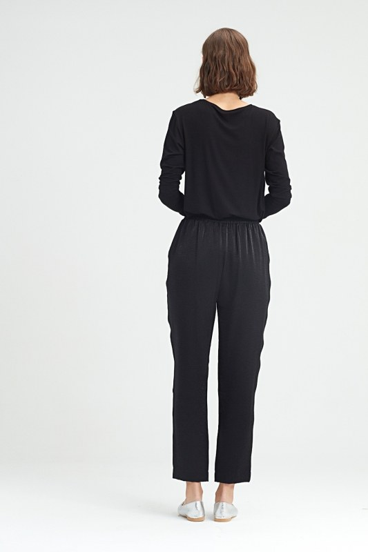 Beli Pileli Pantolon (Siyah)