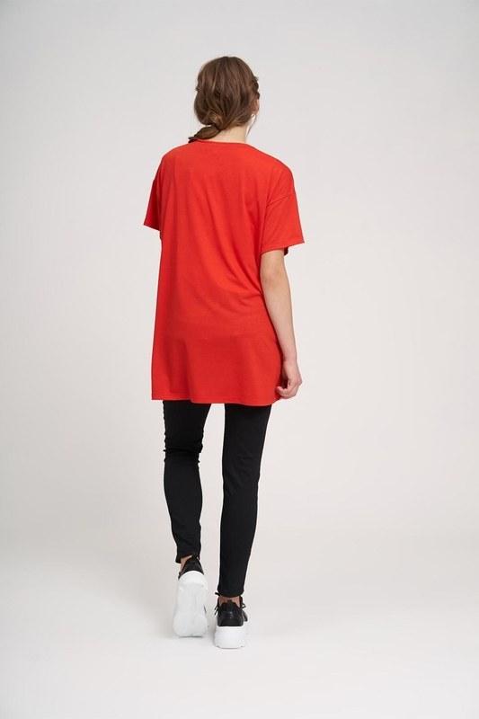 Bisiklet Yaka Basic T-Shirt (Kırmızı)