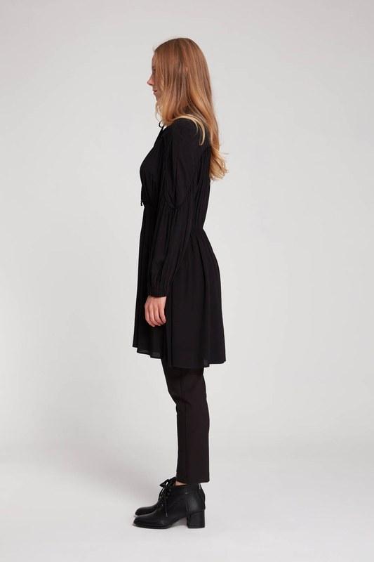 Biyeli Bluz (Siyah)