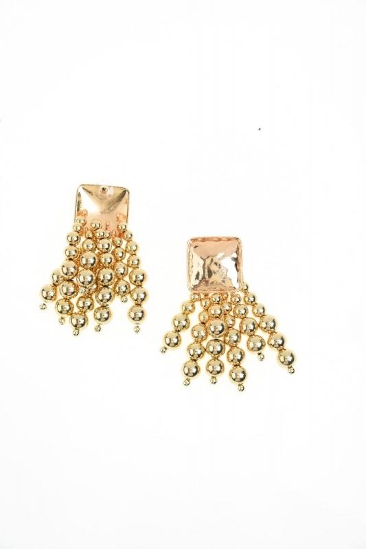 Bead Detailed Earring (Gold)