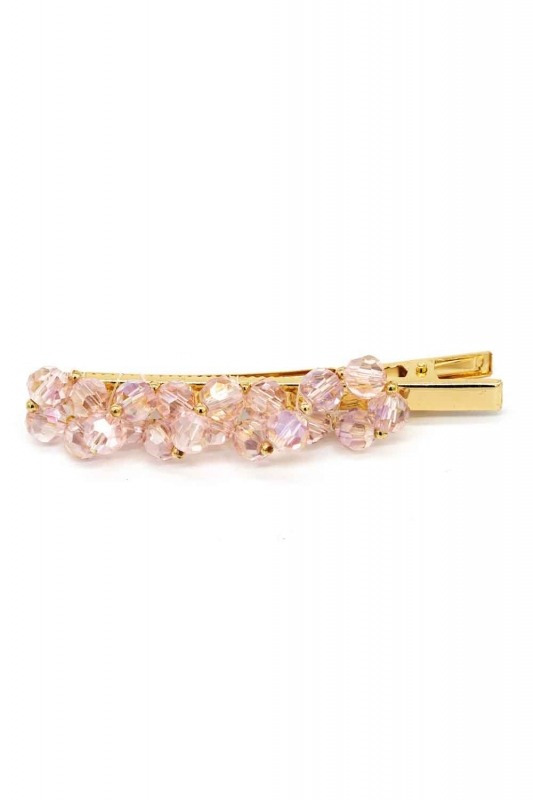 Beaded Hair Clips (Pink)