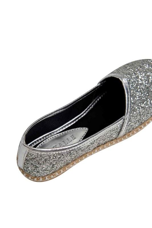Bright Textured Espadrille (Silver)