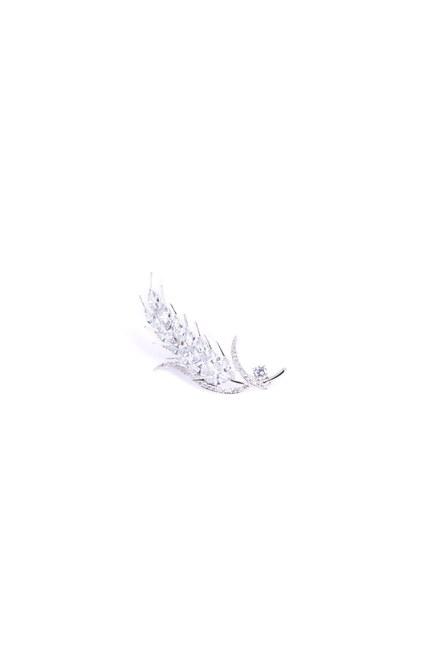 Buğday Temalı Broş (Gri) - Thumbnail