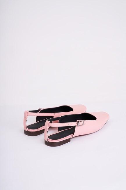 Burnu Açık Ayakkabı (Pembe) - Thumbnail