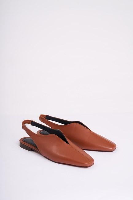 Burnu Kapalı Ayakkabı (Taba) - Thumbnail