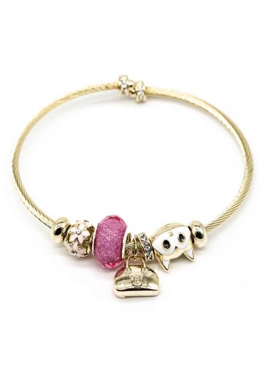 Cat Shaped Bracelet (Pink)